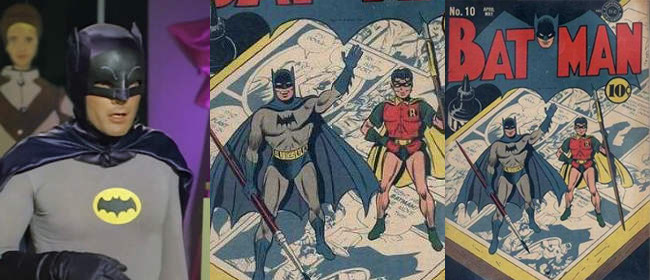 Adam West and Comics Batman
